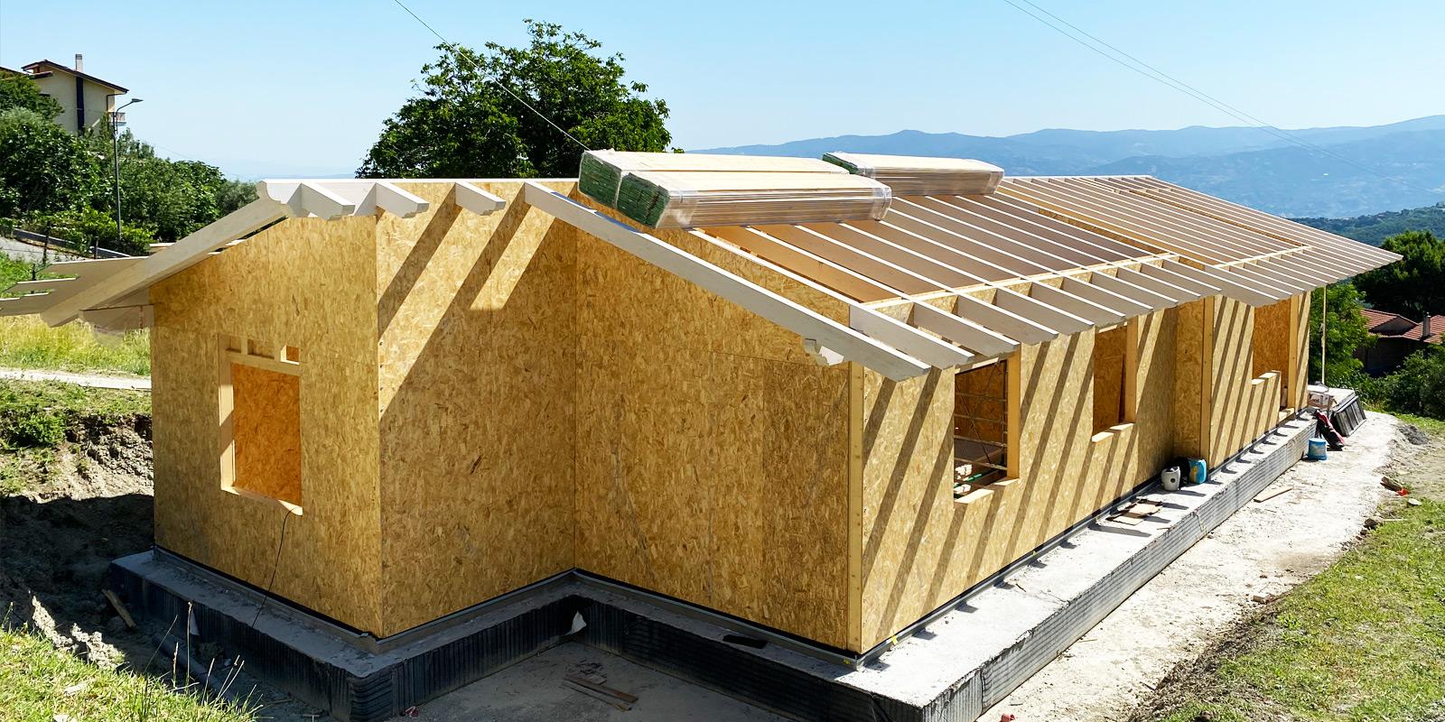 Casa in legno lamellare